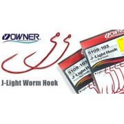 Owner J-Light Worm Hook 5109 №1/0