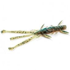 """FishUP Shrimp 3.6"""" (7шт), #017 - Motor Oil Pepper"""