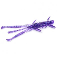 "FishUP Shrimp 3.6"" (7шт), #060 - Dark Violet/Peacock & Silver"